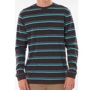 Rip Curl Saltwater Culture Aurora Stripe Long Sleeve in Washed Black